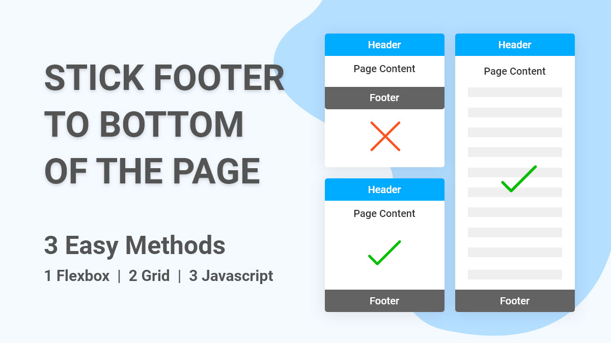 How to stick footer to bottom of page if not enough content