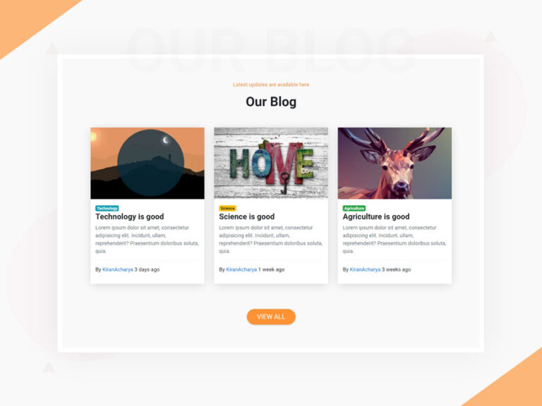 Blog card UI design Bootstrap