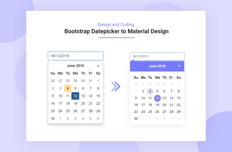 Bootstrap datepicker material design
