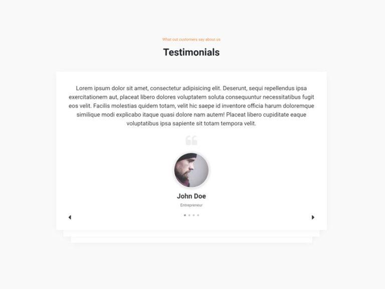 Testimonial UI design with Owl-carousel