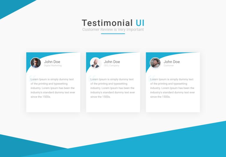 Bootstrap testimonial ui design