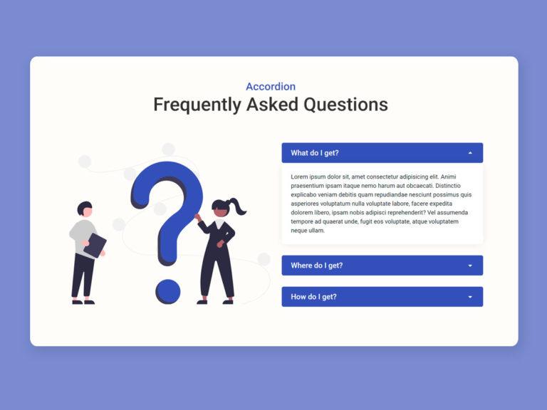FAQ UI Design HTML CSS bootstrap accordion