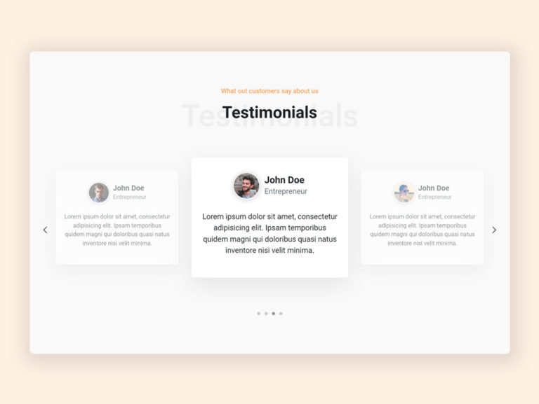 Owl Carousel Testimonial UI Design - HTML CSS