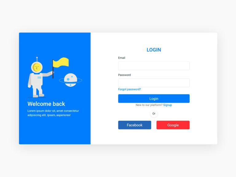 Login form ui design bootstrap 4