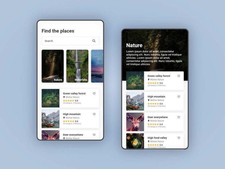 Travel App UI Design AdobeXD