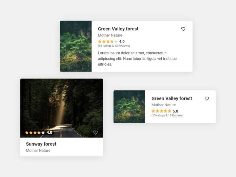 Travel App Card UI Design AdobeXD