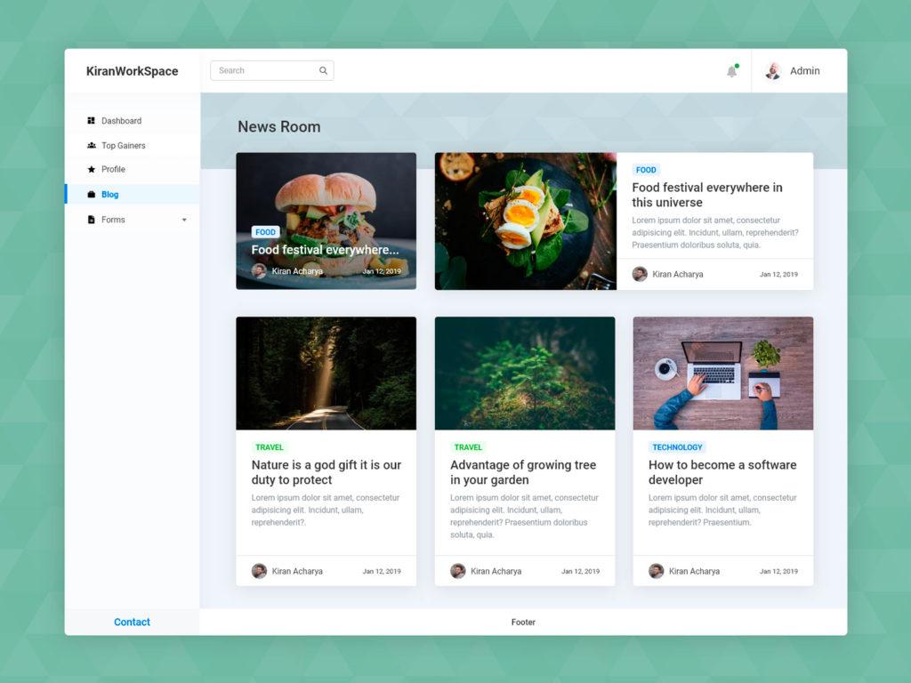 Blog Page UI Design Adobexd