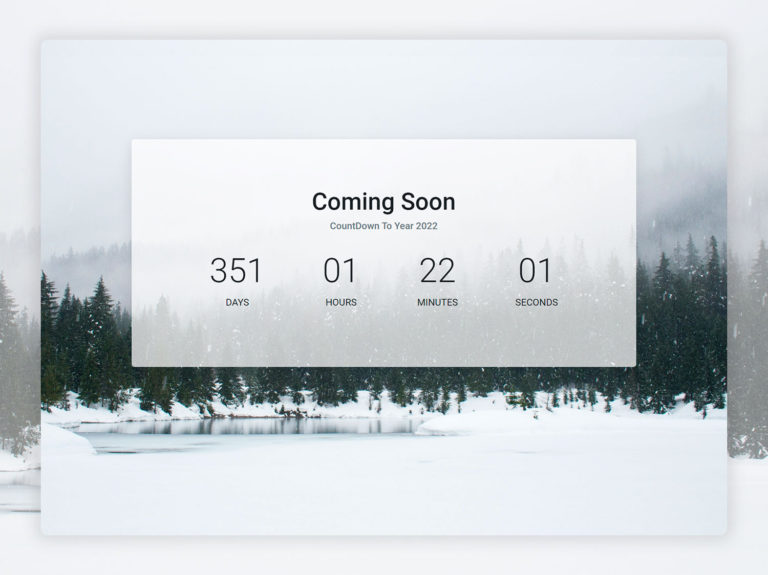 Coming Soon Page UI Design HTML CSS SASS Bootstrap JS