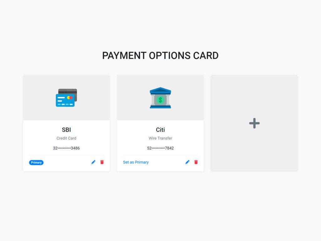 Payment Card UI Design Bootstrap 4