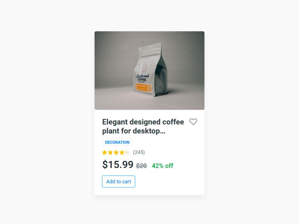 Product Card UI Design Ecommerce Boostrap