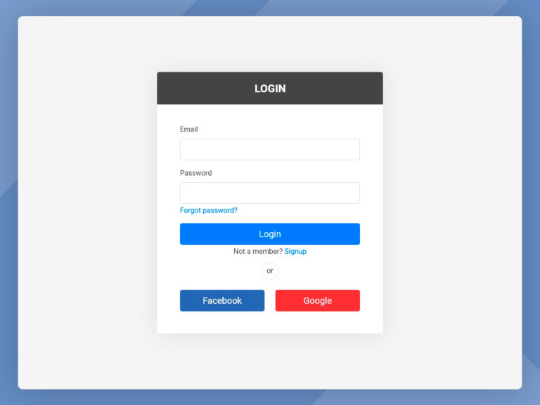 Simple Login Form UI Design AdobeXD