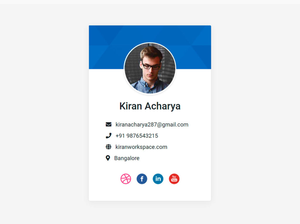 Profile Card UI Design Bootstrap